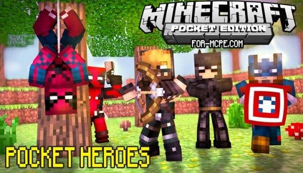 Pocket Heroes - мод на супергероев