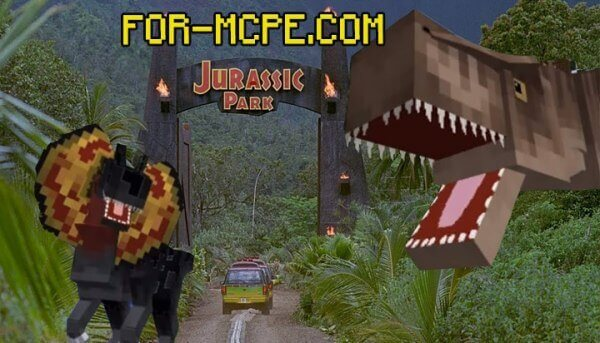 Jurassic Craft World - карта с динозаврами