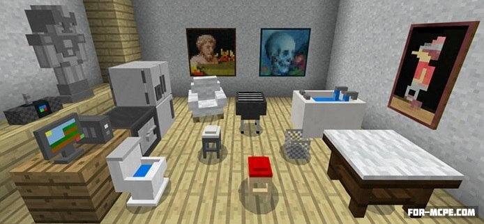Мод на мебель для Minecraft Pocket Edition