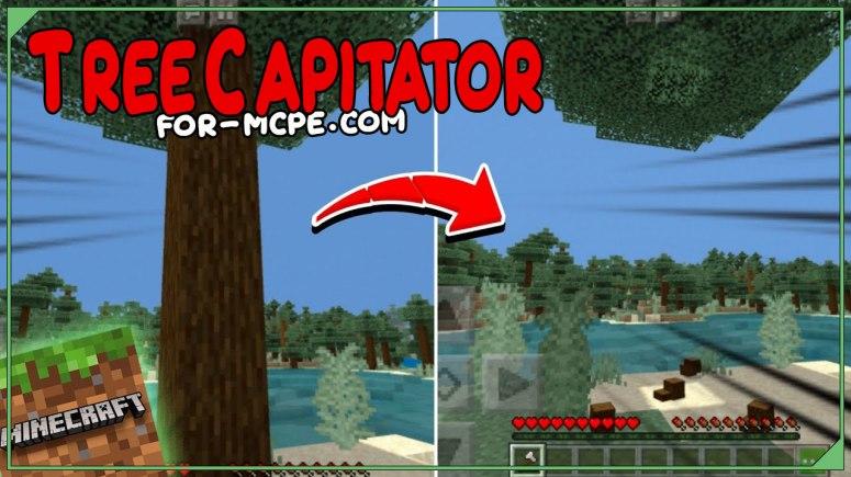 TreeCapitator - быстрая вырубка деревьев 1.16, 1.15, 1.14
