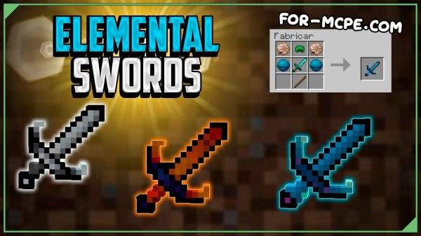 Elemental Swords - мод на оружие стихий 1.16, 1.15, 1.14