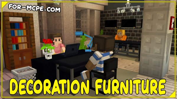 Decoration Furniture - мод на декорации 1.16, 1.15, 1.14