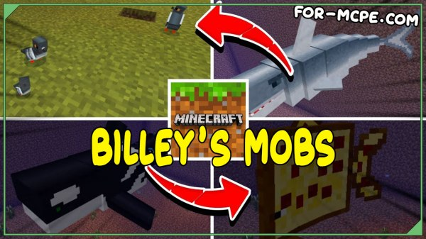 Мод на мобов - Billey's Mobs 1.16, 1.15, 1.14