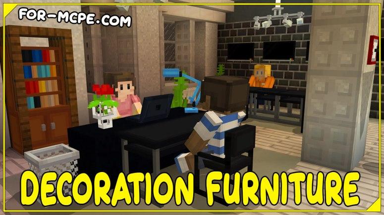 Decoration Furniture - мод на декорации 1.16, 1.15, 1.14